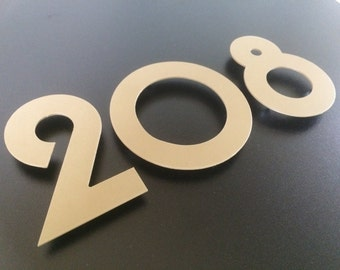 Wall sign house number cut of metal powder coated