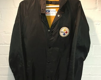 Vintage Stahl Urban Pittsburgh Steelers Jacket Large Black NFL
