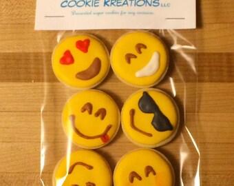 Mini EMOJI decorated cookies