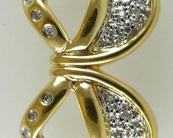 Diamond Pendant 0.15ct 18k Yellow Gold