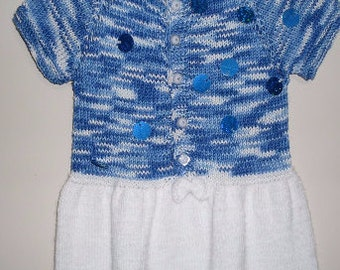 Knit baby dress, baby dress, knitted baby dress, baby dress, baby clothes, baby shower gift, hand knit baby dress, knitted baby clothes