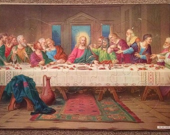 60s the last supper frame tray jigsaw puzzle leonardo divinci