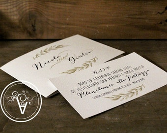 wedding invitation love shabby participation