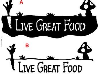 Live Great Food Branding Iron