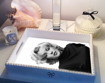 Marilyn Monroe PEARL trim Tray
