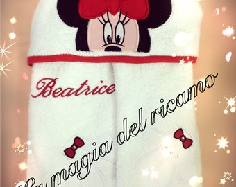 Personalized baby bathrobe minnie