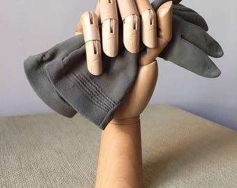 Vintage gloves grey /Vintage grey glooves