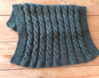 Cable Knit Baby Blanket-Hand Knit