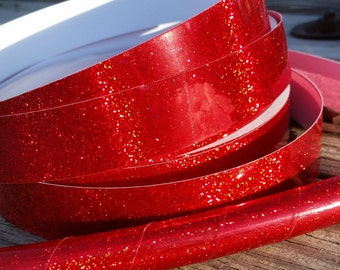 Red Holo-Glitter Hula Hoop- Made to Order (3/4, 11/16, 5/8 Polypro/HDPE) *Free Crystal Clear Protection Tape!