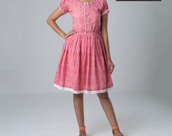 Women's Summer Dress in hand block print #SB-16-19