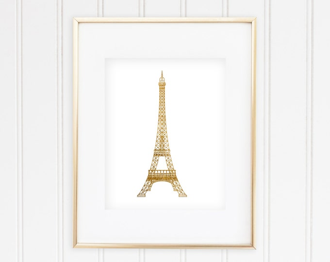 Goldish Eiffel Tower - Real Foil