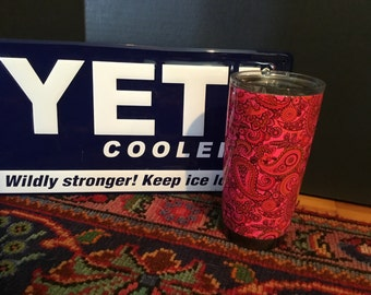 Authentic Yeti 20oz Rambler Hydro Dipped Paisley