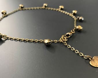 Elegant bronze chime anklet perfect for summer