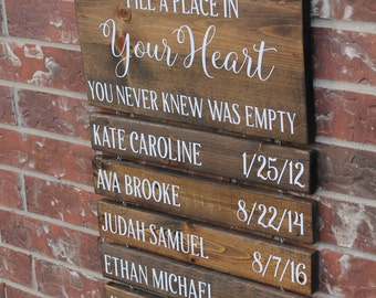 NAME SLAT for grandchildren sign