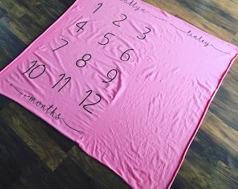 Milestone Blanket- Organic Cotton Jersey Knit