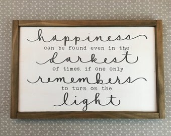 Happiness can be found framed