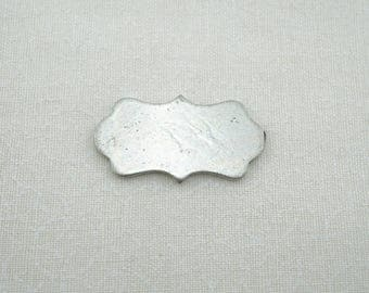 Pewter Plaque - Hand Stamping Blank -Jewelry Stamping - Pewter Stamping Blank - Hand Stamping Supplies - blank #1007