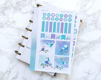 Final Sale // MATTE Mini HP Sweet Owls Planner Sticker Kit - For MINI Happy Planners