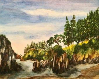 Stacks - Original Watercolor