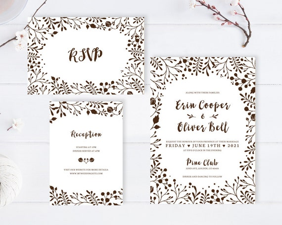 Cheap Cardstock For Wedding Invitations : Brown wedding invitations printed on premium cardstock / Cheap wedding ...