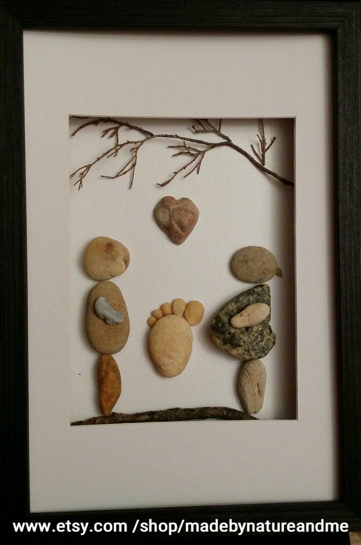 Expecting Parents Gift Pebble Art Rock Art Feet Print