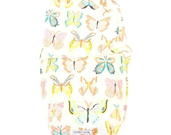 Butterfly Swaddle Wrap | Coral and Aqua Vintage Butterfly Baby Swaddle