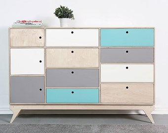 BLISS.1 customized handmade plywood bureau / chest of drawers / scandinavian design // original gift / kids interior