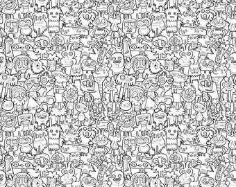 Jon Burgerman Burgerdoodles (Colour-In) Paper