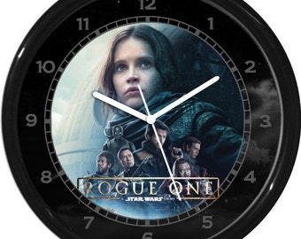 "Star Wars Rouge One 10"" Wall Clock Personalized Boys Room Decor Wall Art Gift"