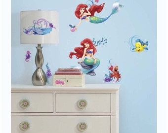 The little mermaid birthday/bedroom stick and peel wall decal