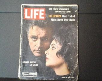 Life Magazine, April 19, 1963, Elizabeth Taylor, Richard Burton