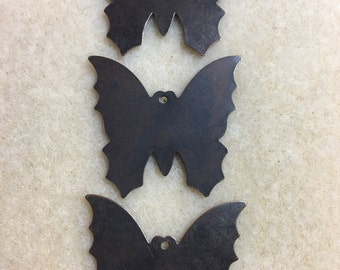 CLEARANCE - Vintaj altered brass blanks, 31 x 34mm, large butterfly, 3 pieces