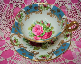 Beautiful Vintage FOLEY ROSES Cup & Saucer.