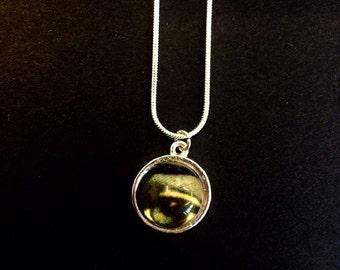Glass eye cabochon necklace