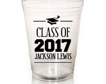 Custom Cups for Graduation Party (Soft Plastic/Solo Cups)