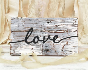 Love - Chippy paint sign / love sign / wedding photo prop /shower gift
