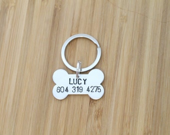 hand stamped dog tag | custom