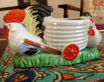 Kitschy fun rooster planter ~ Made in Japan