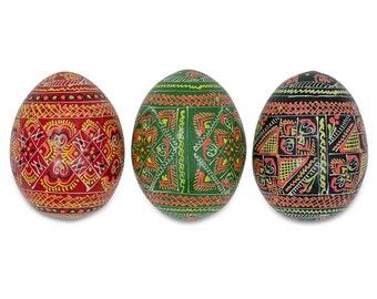 Set of 3 Ukrainian Pysanky Easter Egg Fridge Magnets- SKU # mfm-01