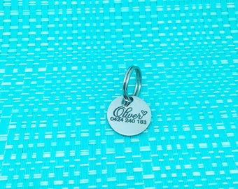Personalized Cat Tag, Cat Name Tag, Cat ID Tag, Custom Cat ID, Cat Name Tag, Cat Collar Name Tag, Kitten Collar, Small Cat Tag, Cat Gift