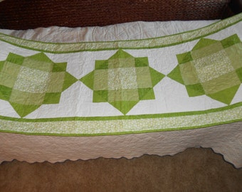 Quilted bed runner - for purpose or decoration!