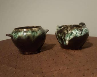 Creamer and Sugar Bowl from Royal Canadian Art Pottery- Vintage 1960's