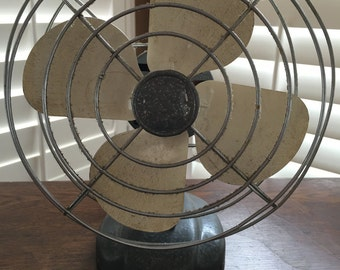 Vintage Oscillating Fan, Table Top Fan, Working Fan, Cooling System, Industrial Fan, Vintage Decor