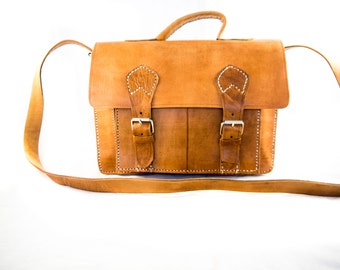 MINI MOROCCAN satchel and back-pack leather bag