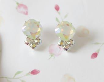 Light Amethyst Lemon Swarovski earrings