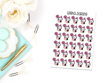 Birthday Balloon Penguin Planner Stickers