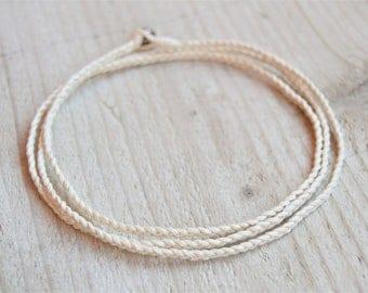 Boho Beach Anklet Rope Anklet Braided Bracelet Boho Anklet Cord Anklet Mens Anklet Womens Anklet Beach Anklet