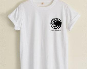House Targaryen Tshirt Game of thrones tshirt Small Pic hipster street unisex women&men clothing size S36'' M38'' L40'' XL44'' 2XL48''