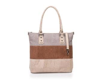Cork bag Cork Corkbag Cork handbag grey camel handbag