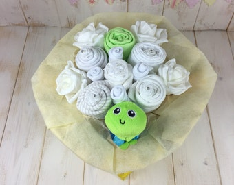 Caterpillar baby bouquet